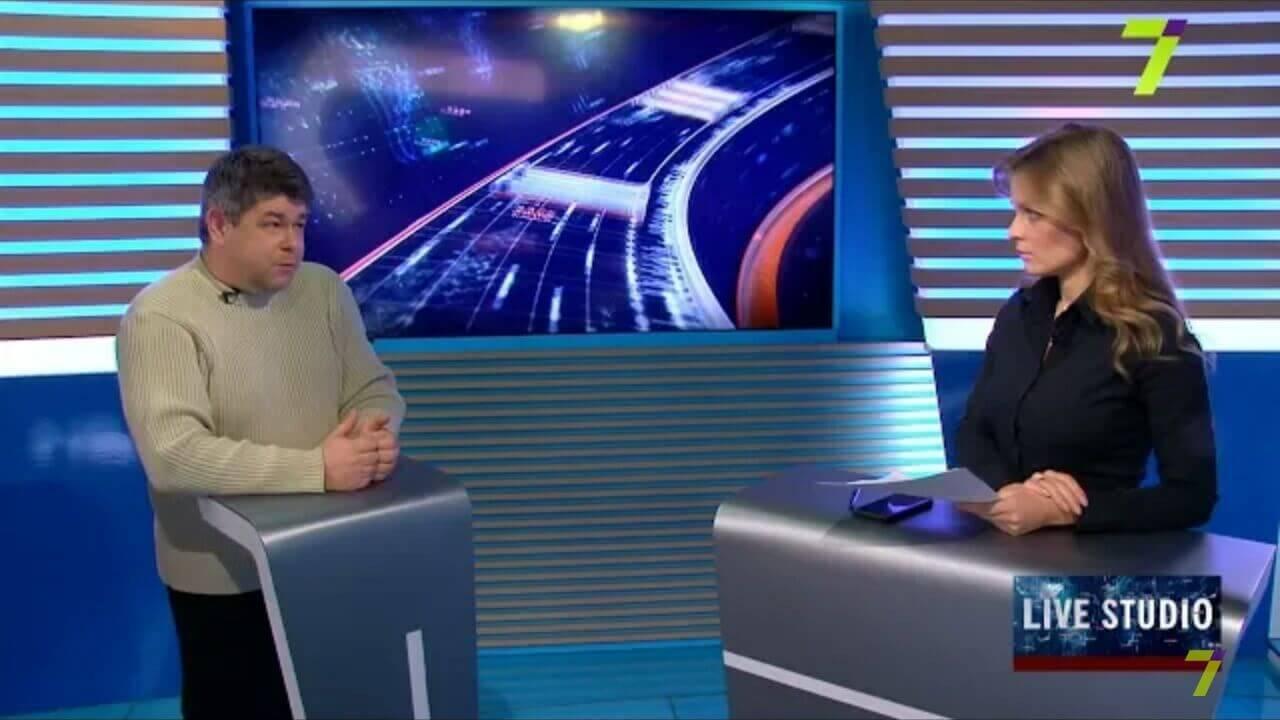 Обговорення обставин та причин ДТП в ефірі 7 телеканалу